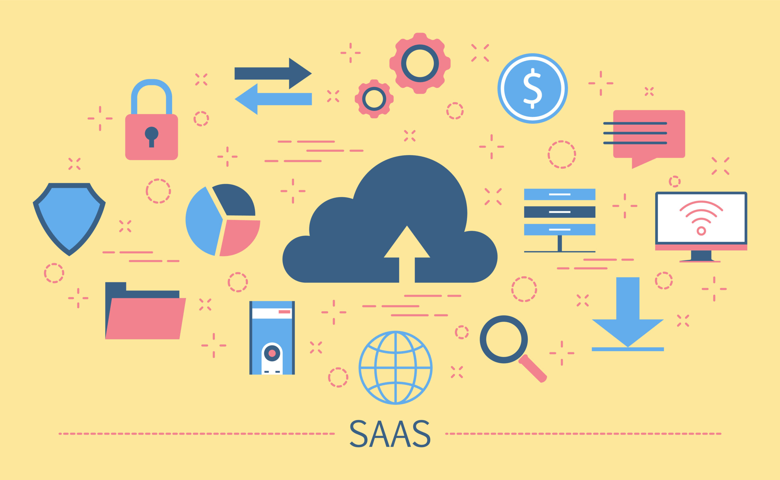 SaaS Software As A Service concept